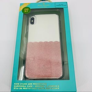 Kate Spade ♠️ Clear Pink Scalloped IPhone XS Max